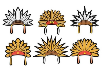 Indian headdress vector - бесплатный vector #404841