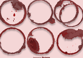 Vector Red Wine Stains - бесплатный vector #404921