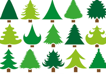 Vector Set Of 15 Pine Icons - vector #404931 gratis