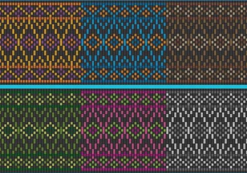 Colorful Songket Patterns - vector gratuit #404991