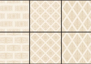 Sepia Monochromatic Toile Patterns - vector #405001 gratis