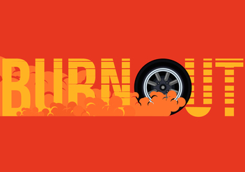 Car Drifting and Burnout Illustration - vector gratuit #405041