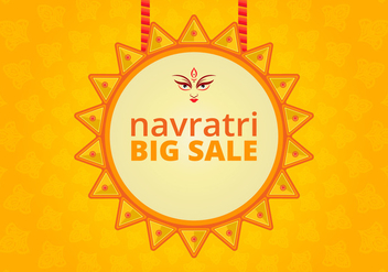 Navratri Big Sale Illustration - vector gratuit #405051