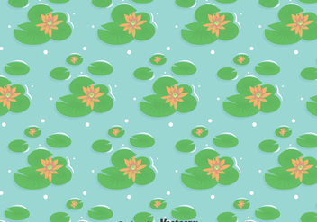 Swamp With Lotus Flowers Background - vector gratuit #405111