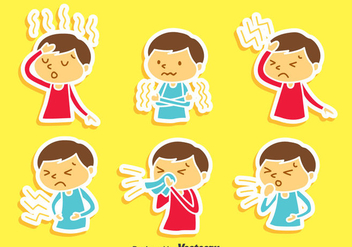 Pain And Affliction Cartoon Children Vector - Kostenloses vector #405121