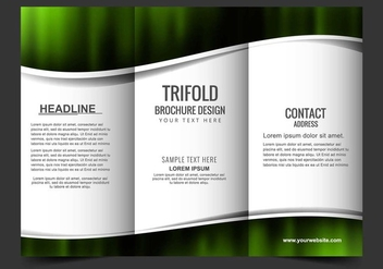 Free Vector Tri Fold Brochure - Free vector #405181