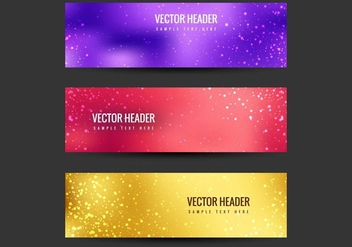 Free Vector Colorful Headers - vector gratuit #405211