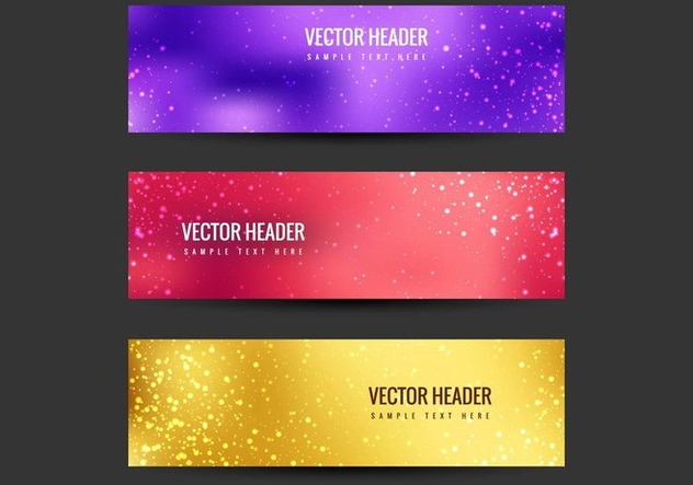Free Vector Colorful Headers - Free vector #405211