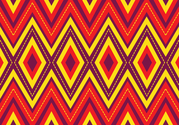 Bright Songket Pattern - vector gratuit #405231