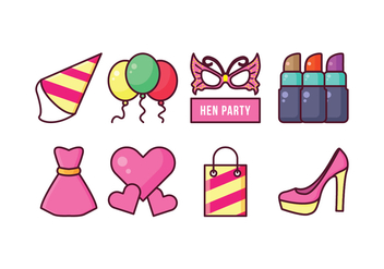 Free Hen Party Icons - vector #405381 gratis