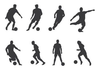 Soccer Player Vectors - Free vector #405481