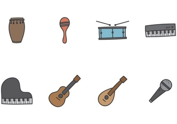 Music Instrument Icon - vector #405501 gratis
