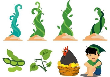 Free Jack and the Beanstalk Vector - vector gratuit #405591