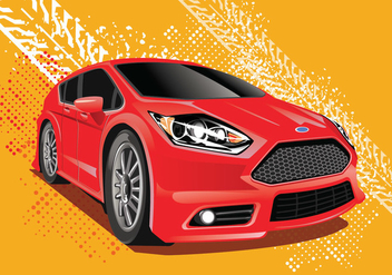Ford Fiesta Vector Illustration with Ruts Background - Free vector #405641