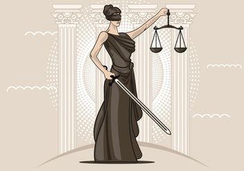 Lady of Justice Vector - vector gratuit #405671