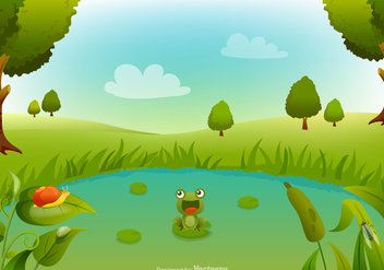 Free Swamp Cartoon Vector Background - бесплатный vector #405701