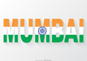 Free Vector Mumbai Word Text - Free vector #405731