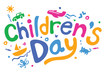 Fun Childrens Day Vector Illustration - Kostenloses vector #405761