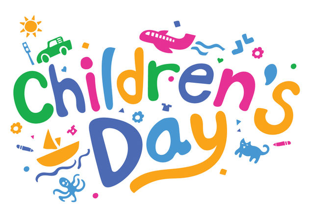 Fun Childrens Day Vector Illustration - vector gratuit #405761