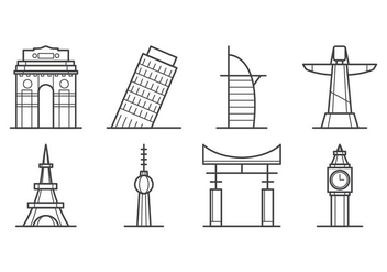 Free City Landmark Icon Vector - vector gratuit #405791