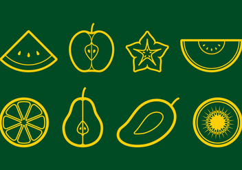 Fruit Icon Set - vector #405841 gratis