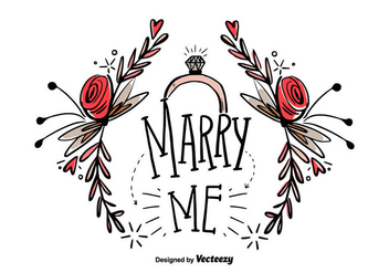 Free Marry Me Hand Draw Vector - Kostenloses vector #405881