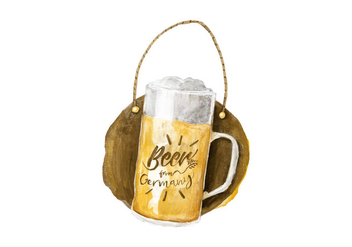 Free Aleman Beer Watercolor Vector - vector gratuit #405891