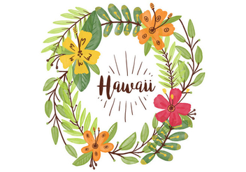 Free Hawaiian Lei Watercolor Background - vector gratuit #405901