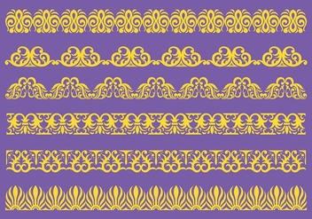 Free Lace Trim Icons Vector - Free vector #405981