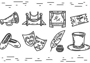 Free Teatro Icons Vector - Free vector #405991