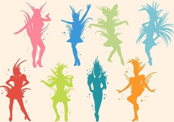 Free Silhouette of Samba Vector - Kostenloses vector #406111