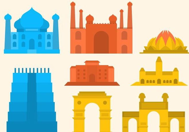 Free India Gate Vector - Free vector #406141