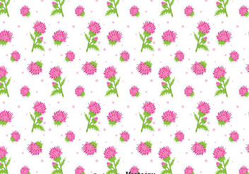 Beautiful Thistle Flowers Seamless Pattern - бесплатный vector #406191