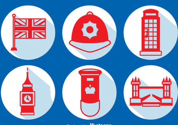 United Kingdom Element Long Shadow Icons Vector - vector gratuit #406221