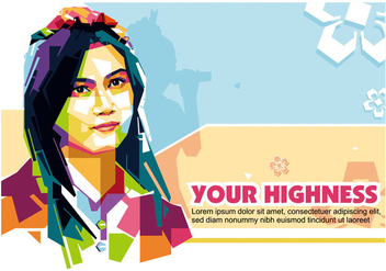Your Highness in Popart Portrait - WPAP - Free vector #406231