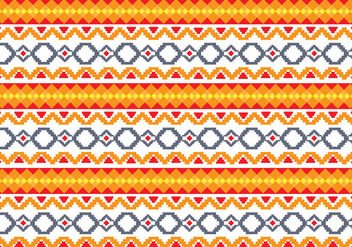 Pattern Of Indonesian Songket Illustration 3 - бесплатный vector #406521