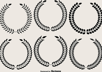 Vector Laurel Wreaths - vector gratuit #406601