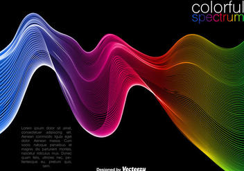 Vector Colorful Wave Background - Free vector #406611
