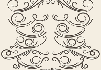Vector Ornamental Dividers - бесплатный vector #406621