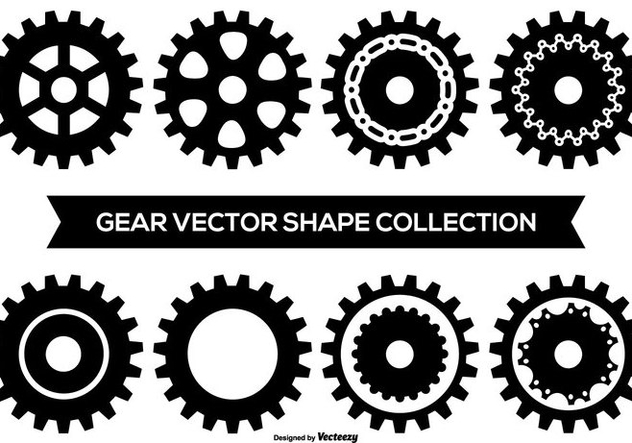 Vector Gear Shape Collection - vector gratuit #406691