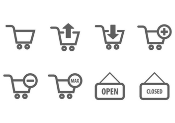Shopping Chart Icon - vector gratuit #406761