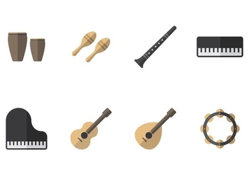 Music Instrument Icon - vector #406771 gratis