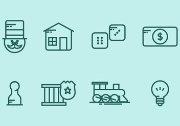 Monopoly Icon Set - Free vector #406801