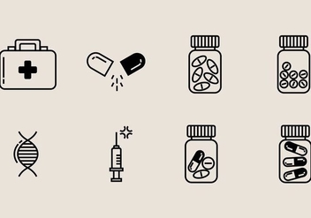 Pill Box Icon - Free vector #406831