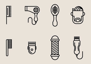 Hair Clippers Icons - vector #406841 gratis