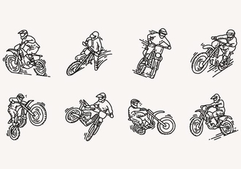 Dirt Bike Icon - vector #406861 gratis