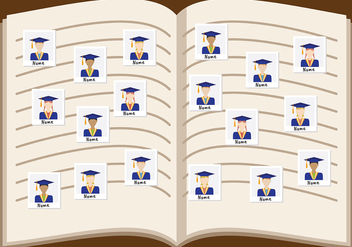Year Book Vector - vector #406901 gratis