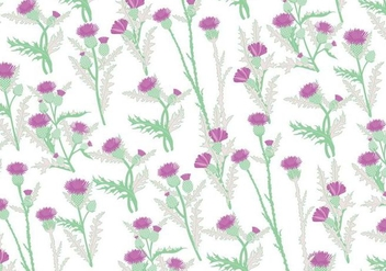 Thistle Pattern Vector - Free vector #406951