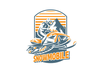 Snowmobile Handgraving Vector - Free vector #406981