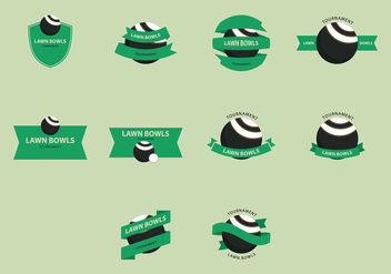 Lawn Bowls Icon Set - vector gratuit #407001